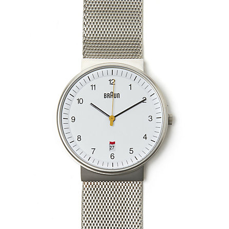 Analog Steel Mesh Band Watch