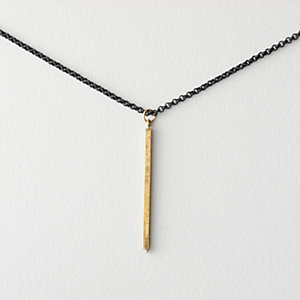 Brass Stick Pendant Necklace