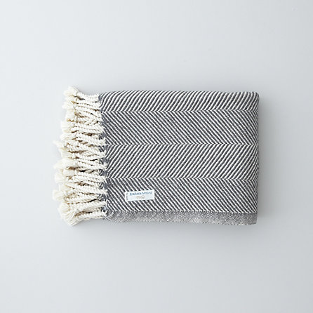 ALPACA COTTON HERRINGBONE THROW