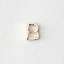 MINI LETTER STUD EARRING - B
