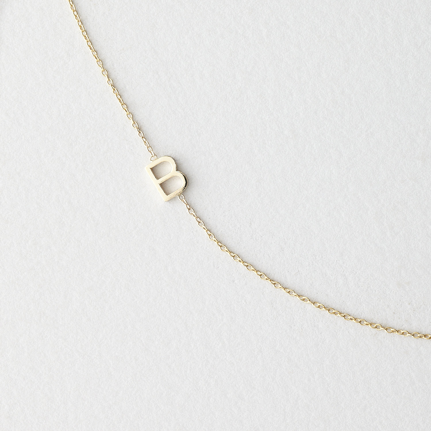 Asymmetrical Mini Letter Necklace - B