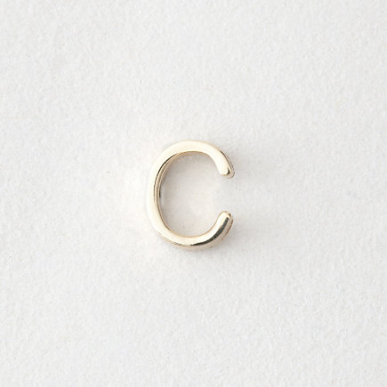 MINI LETTER STUD EARRING - C