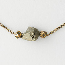 Crystal Mountain Pyrite Necklace
