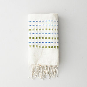 GREEN DOTS HAND/DISH TOWEL
