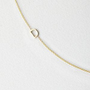 Asymmetrical Mini Letter Necklace - D