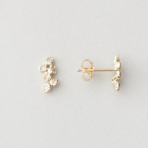 12 DIAMOND CLUSTER EARRING