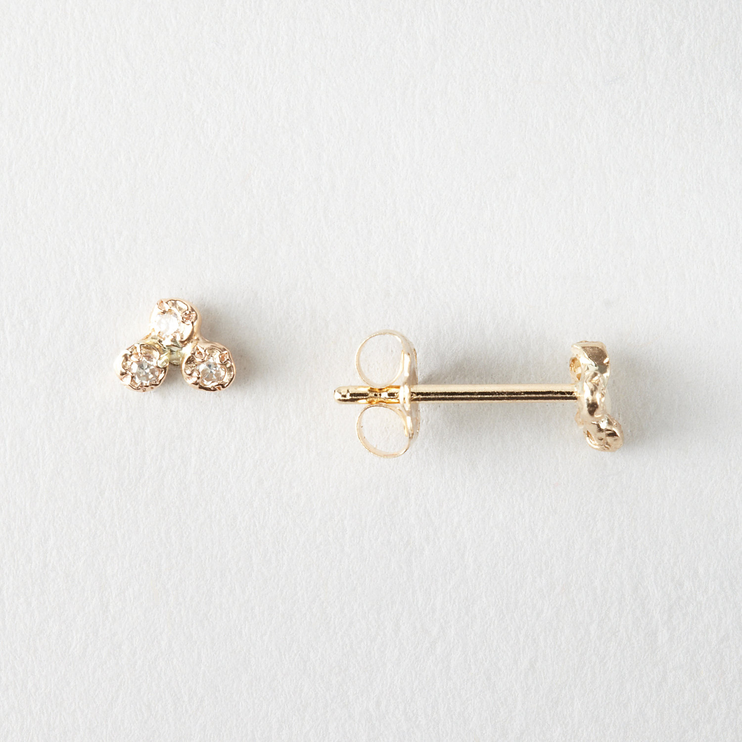 SIX DIAMOND CLUSTER EARRINGS