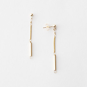 DELICATE CYLINDER EARRINGS