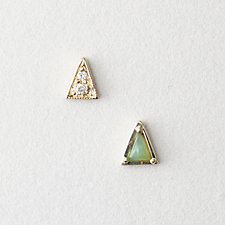 MISMATCHED TRIANGLE STUDS