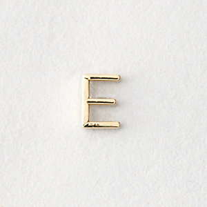 MINI LETTER STUD EARRING - E