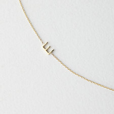 Asymmetrical Mini Letter Necklace - E