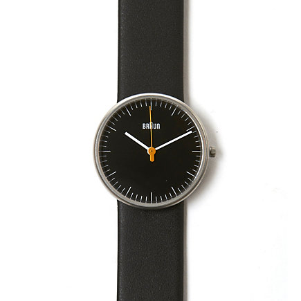 Ladies Analog Black Leather Band Watch