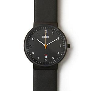 Black Analog Watch w/ Leather Band