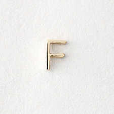 MINI LETTER STUD EARRING - F