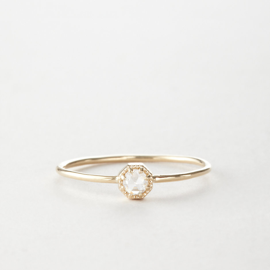 PETITE CROWN BEZEL RING