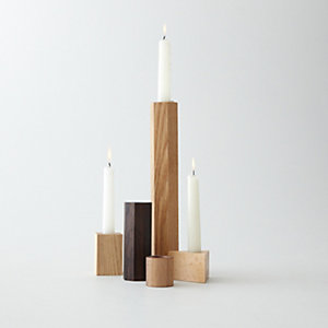 GEOMETRY SET CANDLESTICK HOLDERS