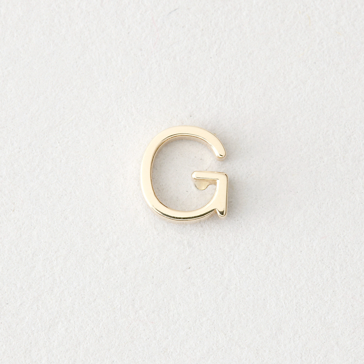 MINI LETTER STUD EARRING - G