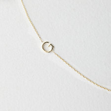 Asymmetrical Mini Letter Necklace - G