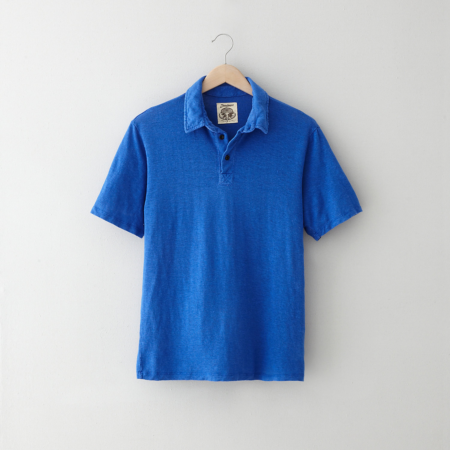GARMENT DYED HEMP POLO