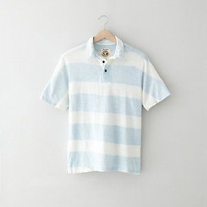 STRIPE HEMP POLO