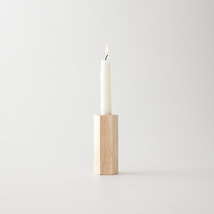 SOLID HEXAGON CANDLESTICK HOLDER