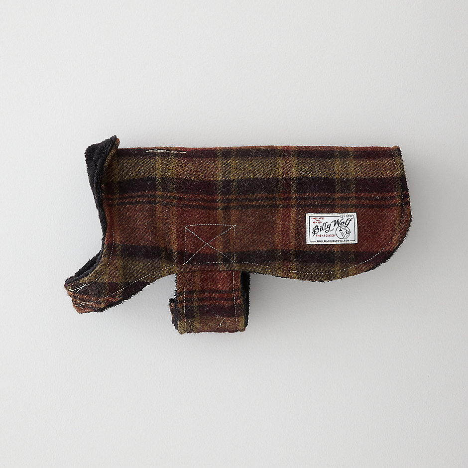 HOLDEN PLAID DOG COAT
