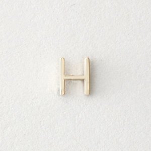 MINI LETTER STUD EARRING - H