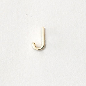 MINI LETTER STUD EARRING - J