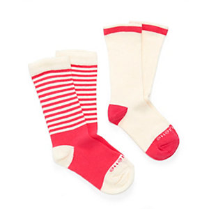 Kid 2 Pack Preppy Stripe Socks