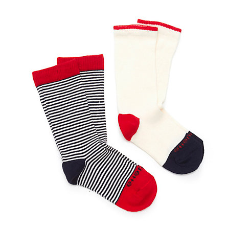 KID 2 PACK SAILOR STRIPE SOCKS