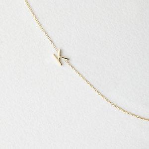Asymmetrical Mini Letter Necklace - K