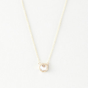 LARGE DIAMOND BEZEL NECKLACE