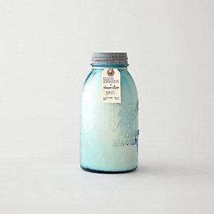 LARGE BLUE MASON JAR CANDLE - BASIL