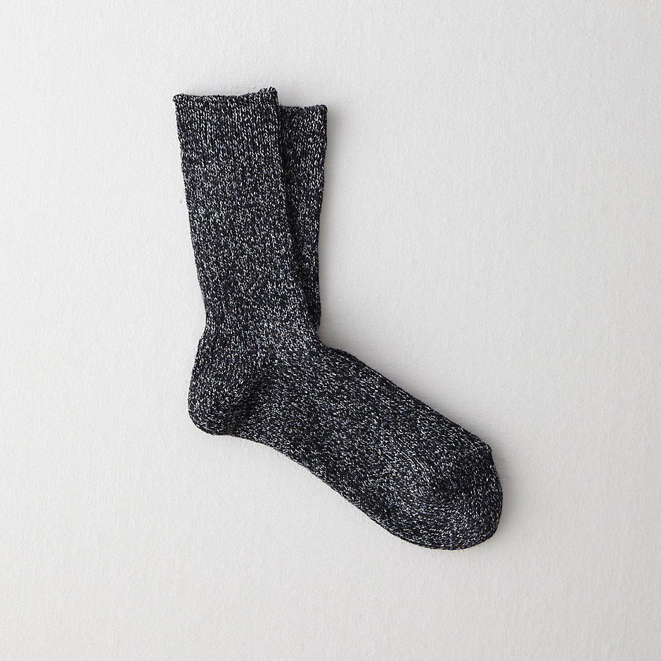 LINEN WOOL MIX SHORT SOCK