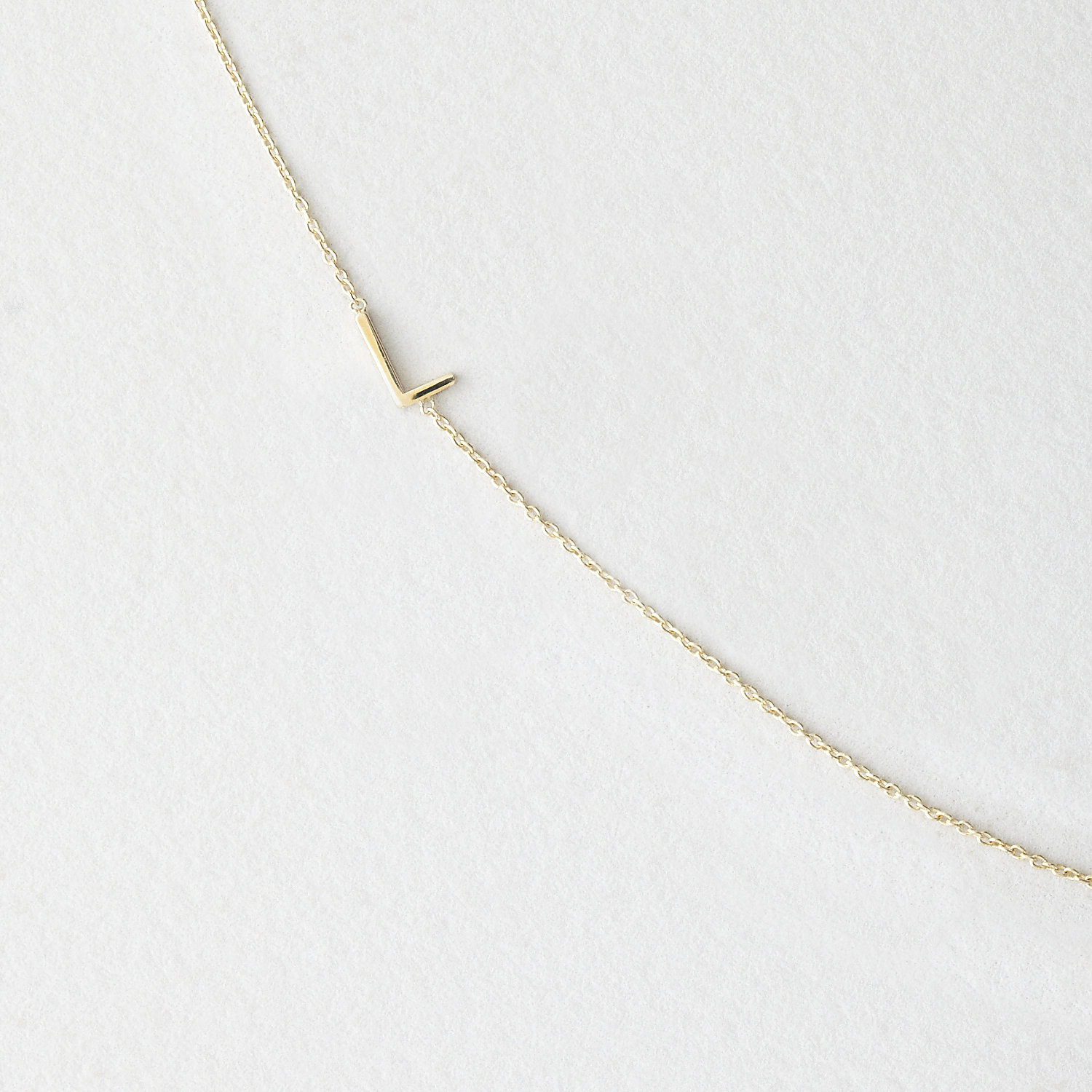 Asymmetrical Mini Letter Necklace - L