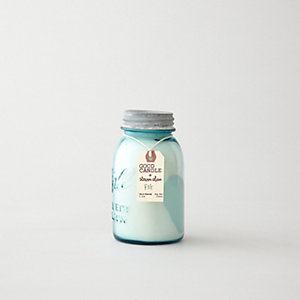MEDIUM BLUE MASON JAR CANDLE - FIG