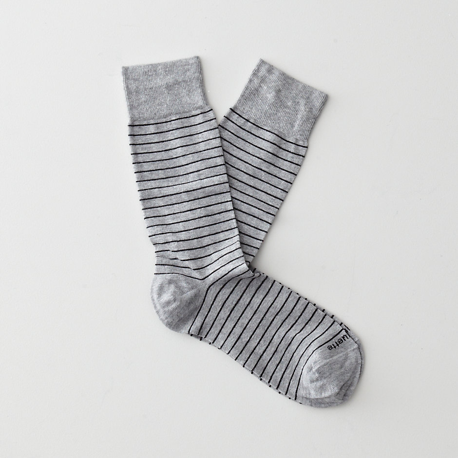 WHITE LABEL NEEDLE STRIPE SOCKS