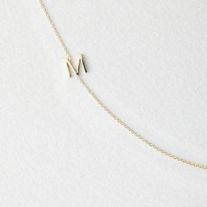 Asymmetrical Mini Letter Necklace - M