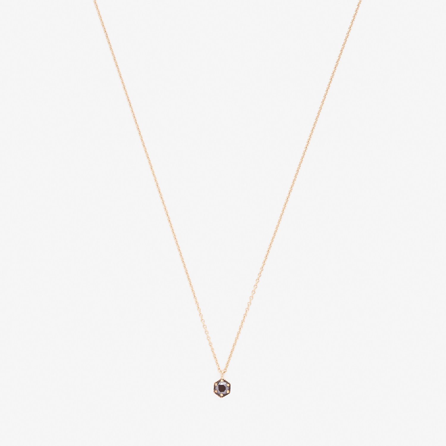 HEXAGON DIAMOND NECKLACE