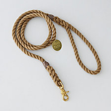NATURAL STANDARD LEASH BRASS - LARGE