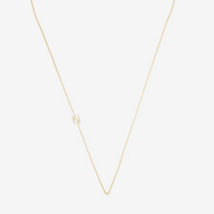 Asymmetrical Mini Letter Necklace - N