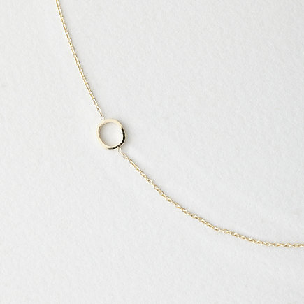 ASYMMETRICAL MINI LETTER NECKLACE - O