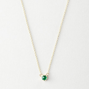 PETITE EMERALD BEZEL NECKLACE