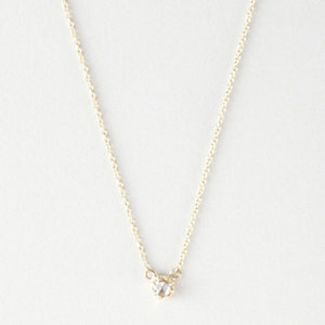 PETITE DIAMOND BEZEL NECKLACE