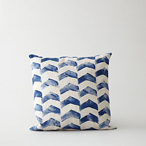 HAND PRINTED CHEVRON PILLOW