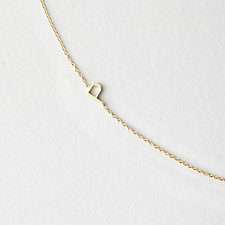 Asymmetrical Mini Letter Necklace - P
