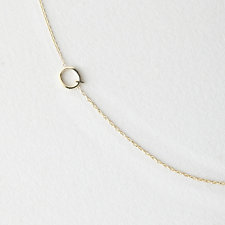 ASYMMETRICAL MINI LETTER NECKLACE - Q