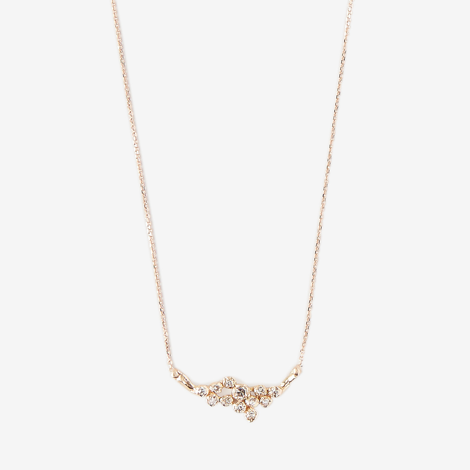 12 DIAMOND CLUSTER NECKLACE