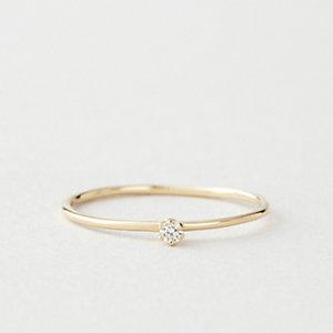 Tiny Diamond Solitaire Ring