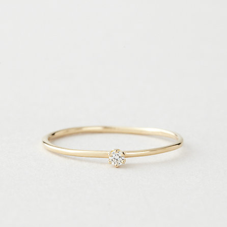 Tiny Diamond Solitaire Ring